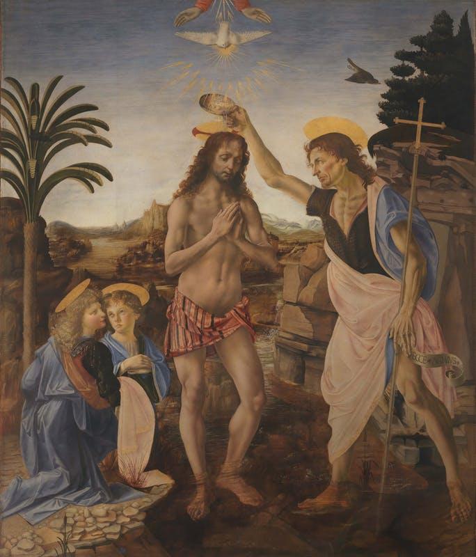 Firenze: Battesimo di Cristo del Verrocchio